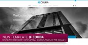 jf Couda: a new free responsive Joomla template