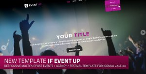 JF Event Up: a responsive multipurpose events and agency Joomla template